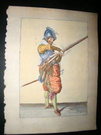 Jacob de Gheyn 1608 Fine Hand Coloured Musketeer Print 14